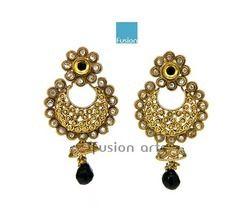 Traditional Ethnic Jhumka Stone Earrings