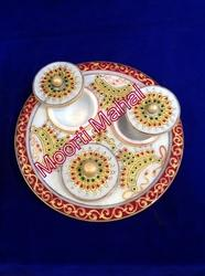 Printed Handicrafts Dry Food Tray with Bowl