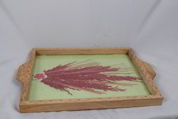 Pine Wood Gem Stone Tray