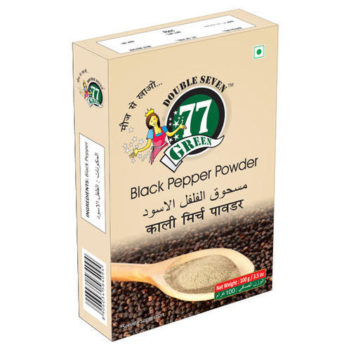 77Green Black Pepper Powder, 50g, Packaging: Packet