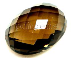 Smoky Quartz Rose Cut Oval Fancy Gemstone