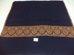 Pure Woolen Needle Work Big Border Shawls