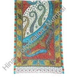 Printed Shawls with Embroidery
