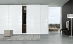 White Painted Lacquered Glass