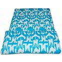 Turquoise Ikat Quilt
