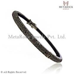 Pave Diamond Designer Bangle Jewelry