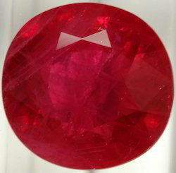 Faceted Good Polishing Synthetic Ruby Stone