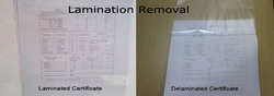 Lamination Removal From Document
