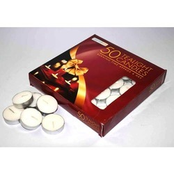 50 PK White Unscented Tealight