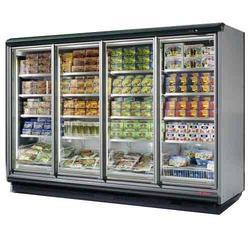 Supermarket Refrigeration 4 Door Vertical Freezer