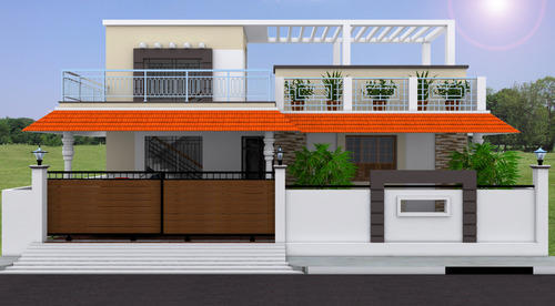 3D Residential Building Elevation