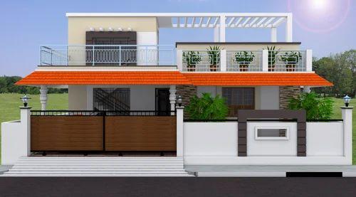 3d Residential Building Elevation in Ramapuram, Chennai, B&w ...