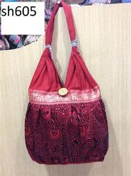 Red Casual Wear Fashion Jhola Bags