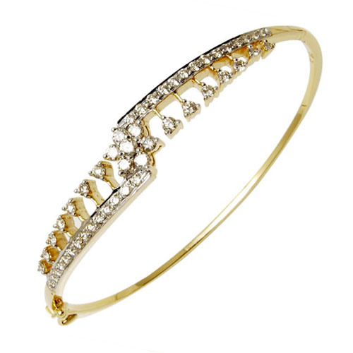 Light Weight Diamond Bracelet Bangle
