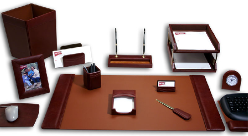 Leather Office Desk Accessories Combo