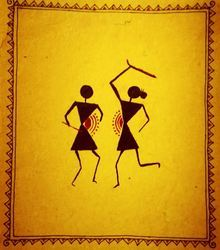 Warli paintings manufacturers suppliers dealers in pune maharashtra warli painting thecheapjerseys Image collections