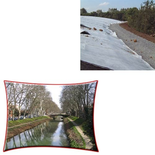 Woven Geotextile Fabric for River Canals