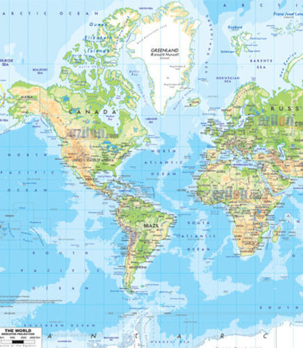 Geography Globe & Maps - World Physical Map Manufacturer from Ambala