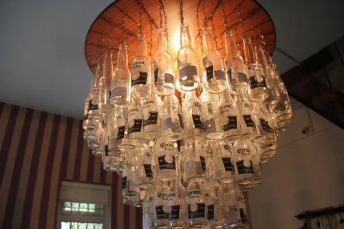 Beer bottle chandelier lantern chandeliers hanging lamps start beer bottle chandelier mozeypictures Choice Image