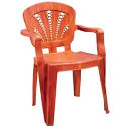 Comfortable Plastic High Back Chair with Arms