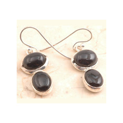 Authentic Black Onyx in 925 Sterling Sliver