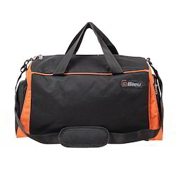 Black and Orange Duffel Bag