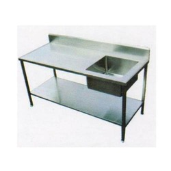 single sink/ work table with sink/ double sink, etc