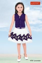 Grils Lavender Skirt Top