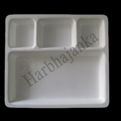 Acrylic 4 Compartment Plate