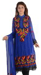 Lucknow Chikan Georgette Suit