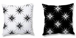 Star Print Cushion And Cushion Cover