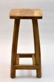 Square Wooden Bar Stool