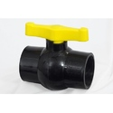 Solid Black Ball Valve