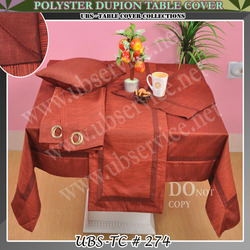 Polyester Dupion Table Cover