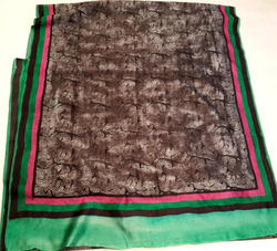Hand Printed Chanderi Silk Saree