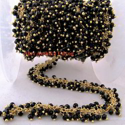 Quartz Black Spinel Grape Chain