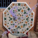 Octagonal White Marble Table Top