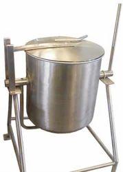 Hanuman Industries Silver Bulk Rice Cooker, for Restaurant