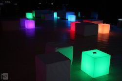LED Illuminated Cubes