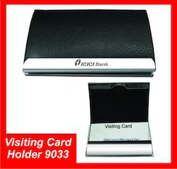 Black Leatherette Metal V C Holder