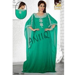 Royal Crystal Studded Green Kaftan 130