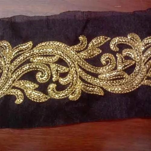 Zari embroidery motifs makaroka