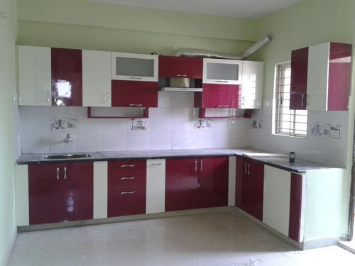 L Shaped Modular Kitchen Sr Interiors Manufacturer In Bengaluru