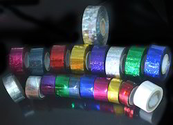 SPICK GLOBAL Silver-gold-over 12 Hula Hoop Holographic Tapes, Size: 3/4