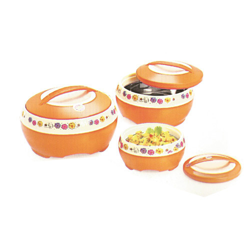 Plastic Orange Delight Gift Casserole Set