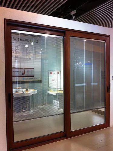 Dumal Aluminum Sliding Window Wood Finish Aluminum Domal
