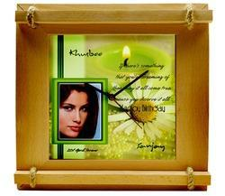 Photo Frame Square Dial Wall Clock