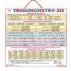 chart of trigonometry: Trigonometry charts trigonometry charts begumpet hyderabad