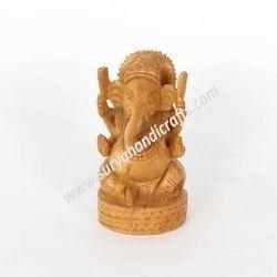 Wooden Ordinary Ganesh