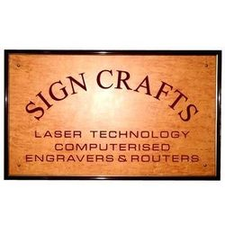 wood engraved name boards